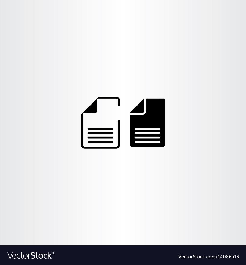 Black paper file documents icon design