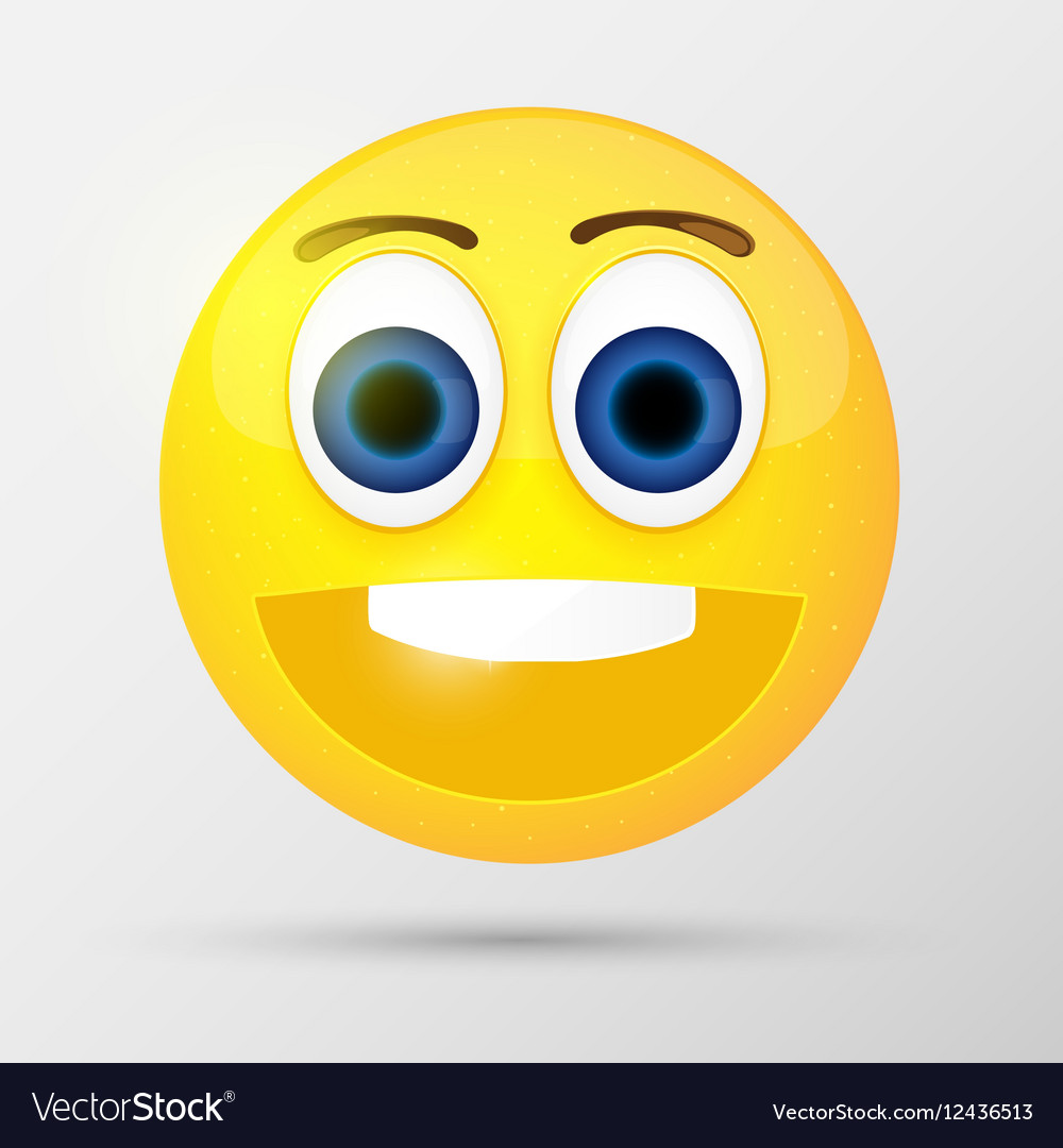 Cute smiling emoticon vector image