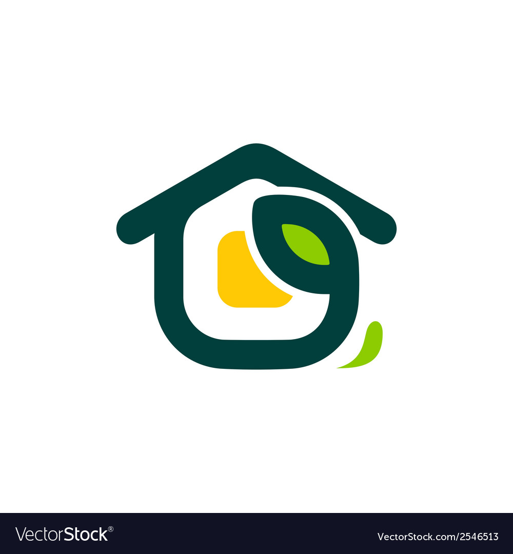 Eco house sign vector image