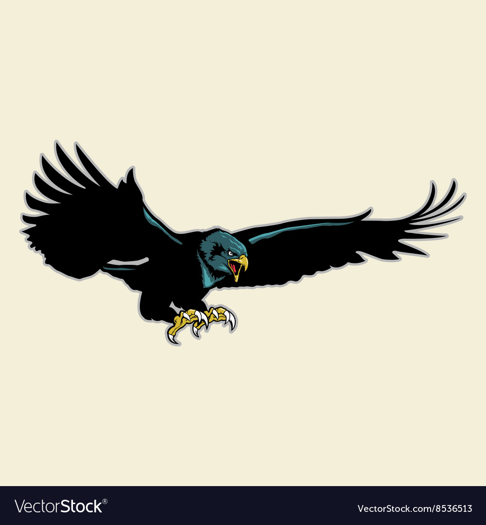 Flying Eagle Mascot vector image