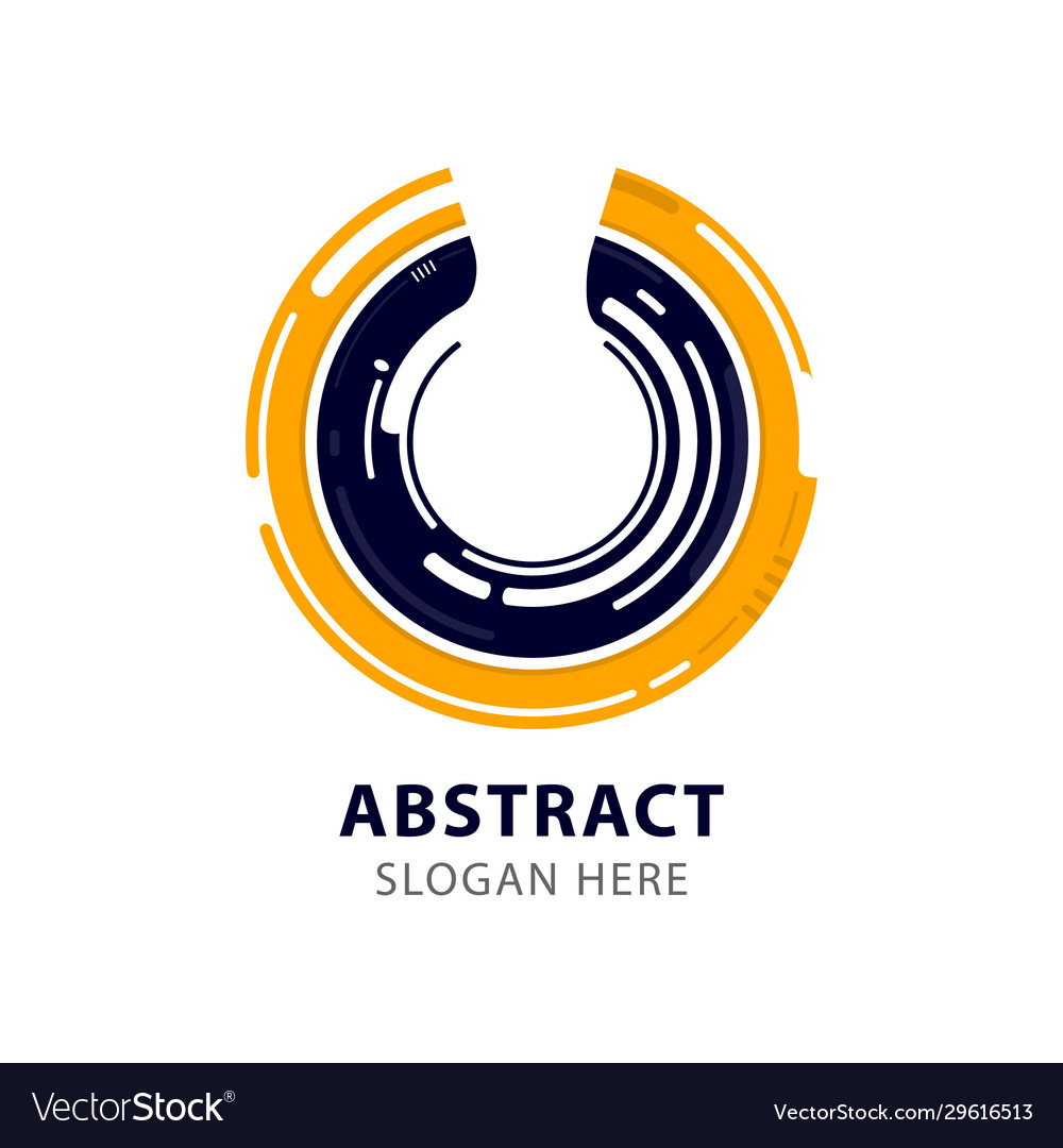 Modern corporate abstract circle