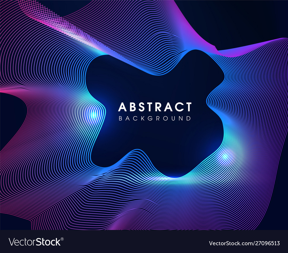 Modern party wave abstract background
