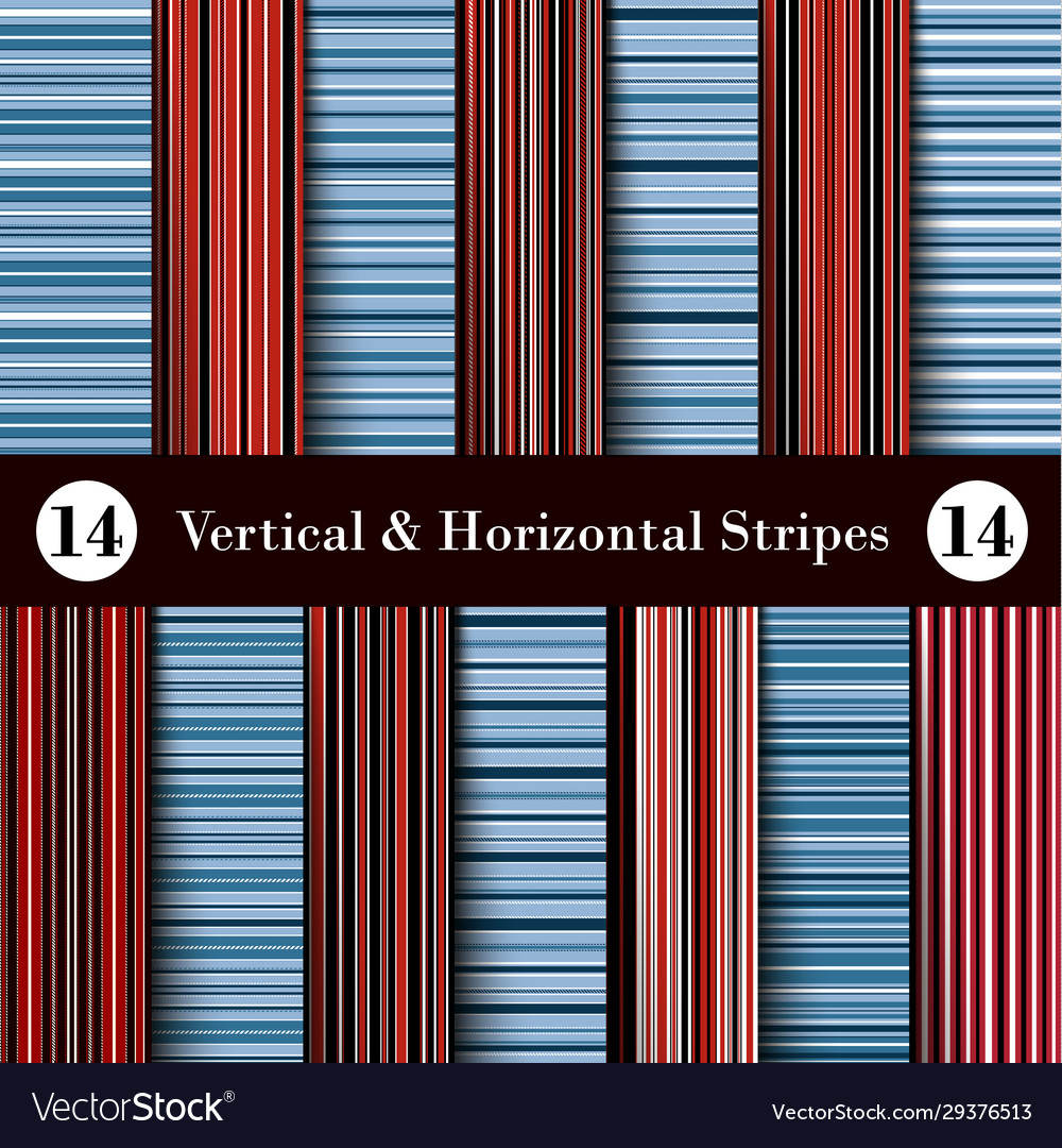 Red black blue and white vertical and horizontal