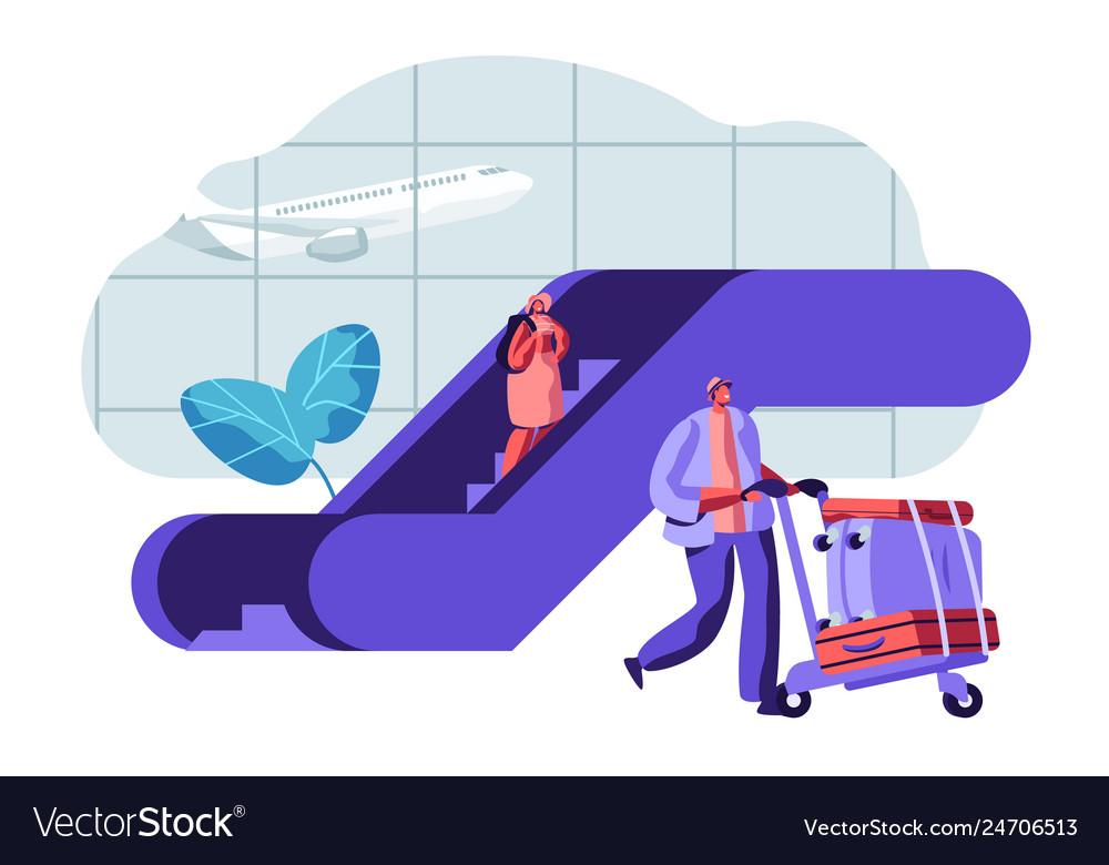 Traveler passengers waiting for departure airport