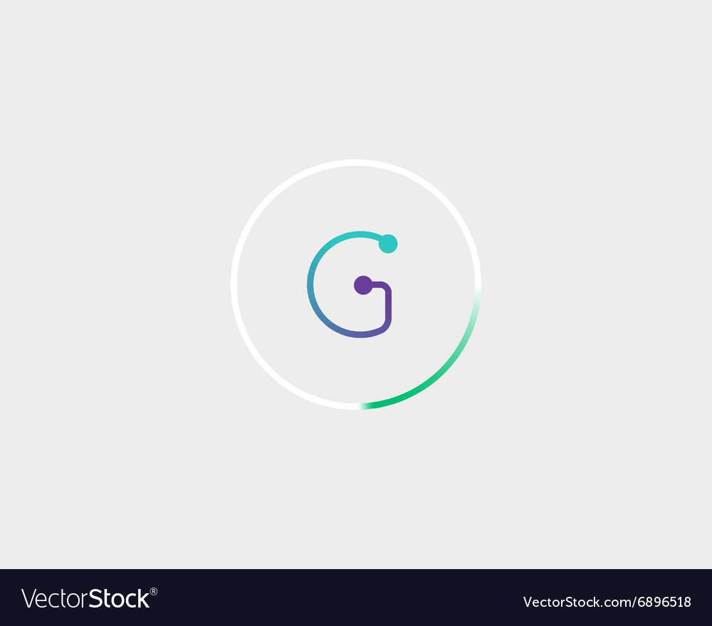 Abstract letter G logo design template Colorful