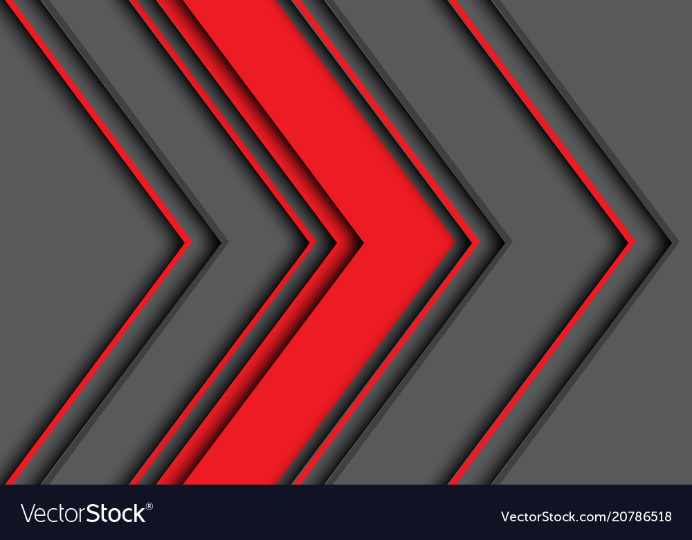 Abstract red gray arrow direction design modern