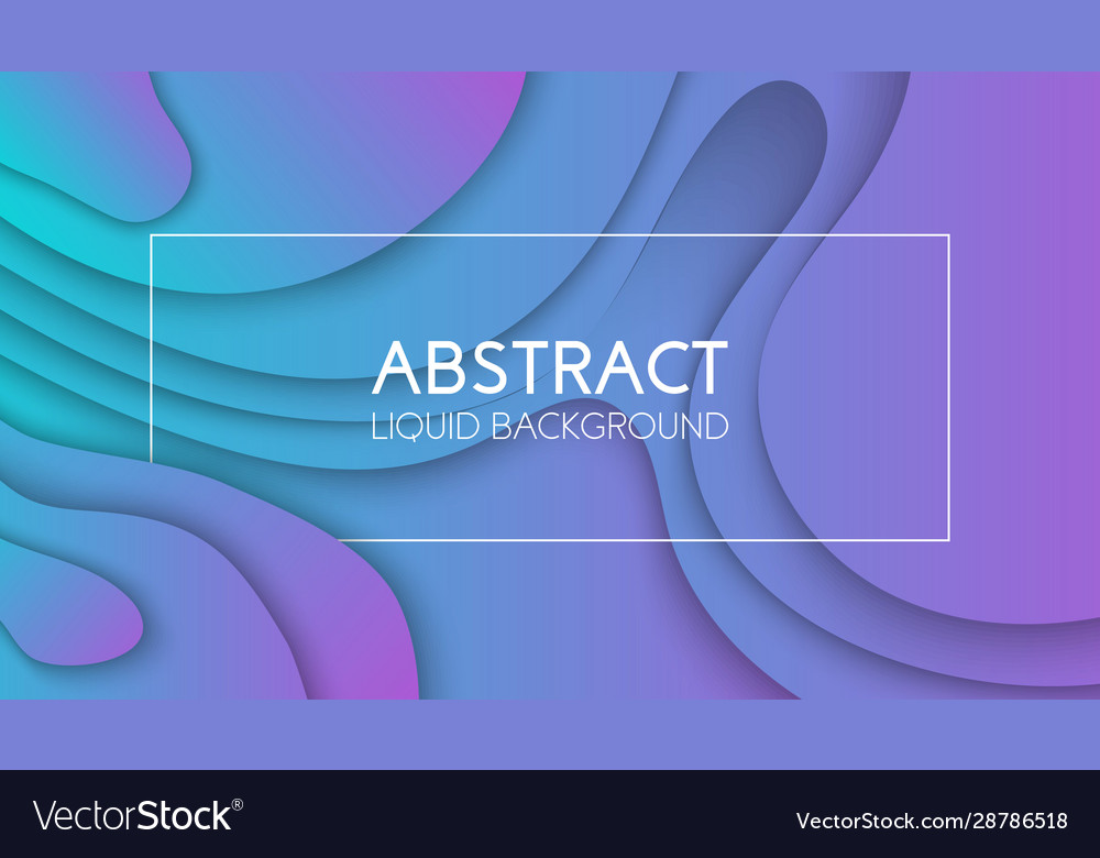 Background with gradient color paper cut shapes