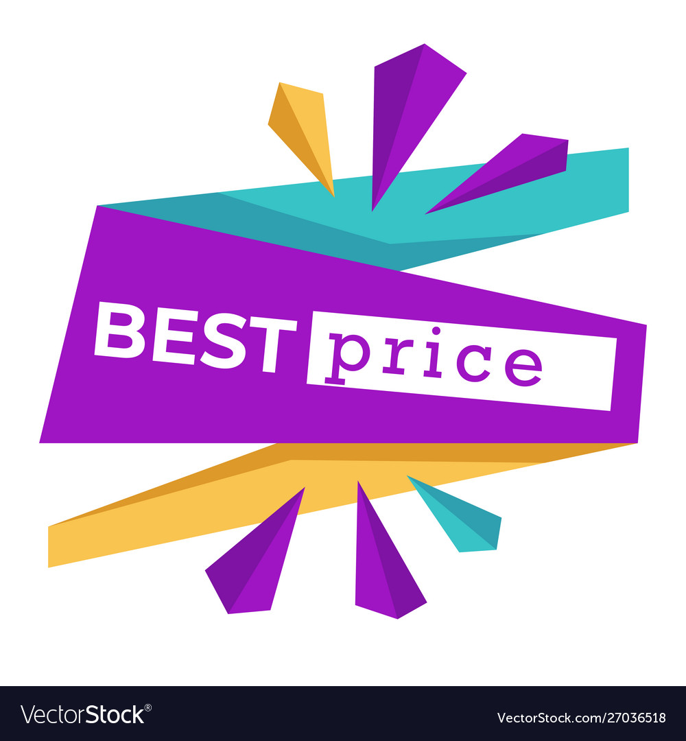 Best price isolated icon sale or discount emblem