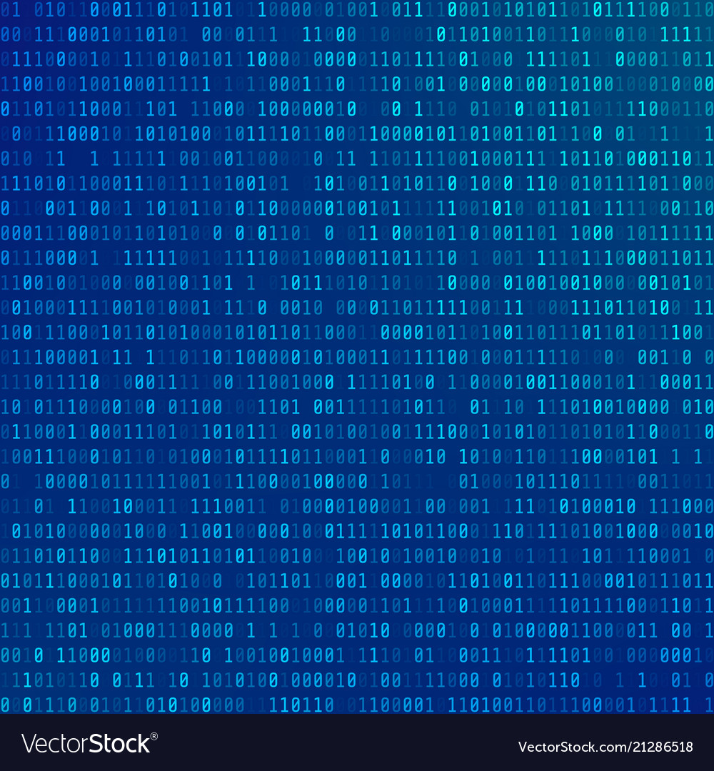 Binary computer code abstract technology