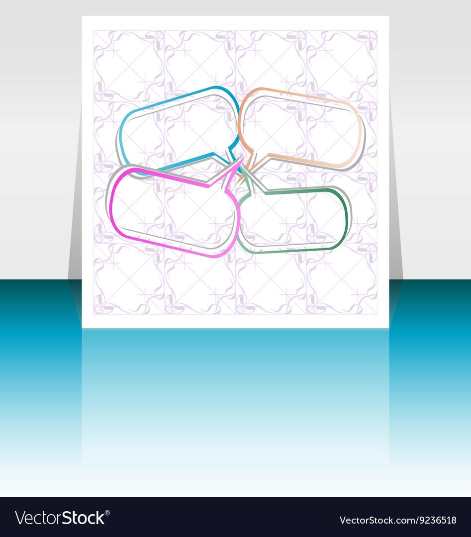 Brochure cover design template Vintage vector image