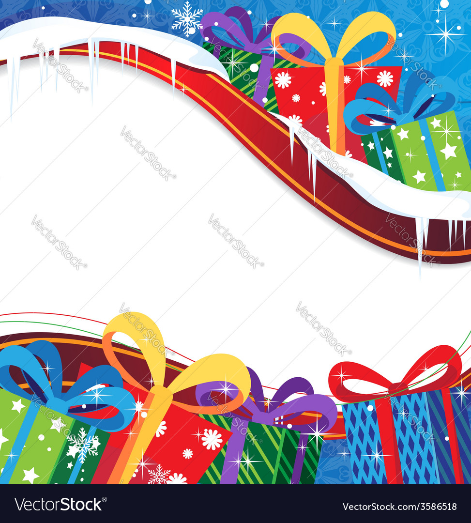 Christmas presents background Royalty Free Vector Image