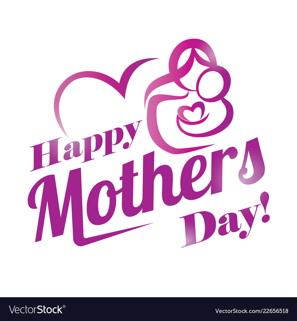 Happy mothers day greeting card template stylized