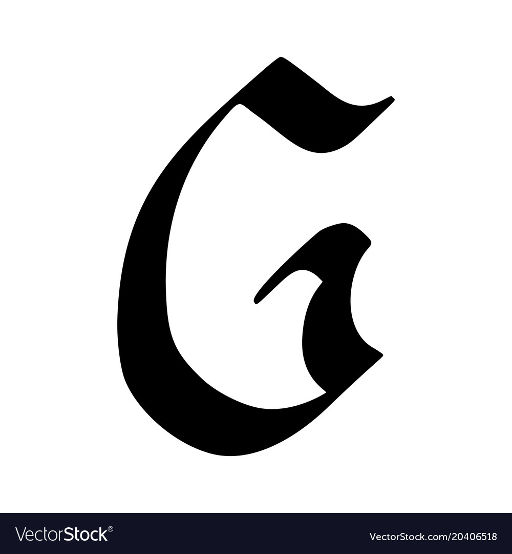 Letter g painted brush Royalty Free Vector Image