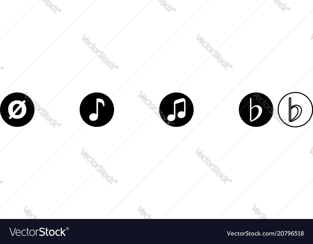 Music Note Royalty Free Vector Image Vectorstock