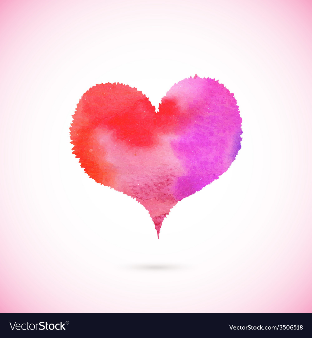 Pink painted heart