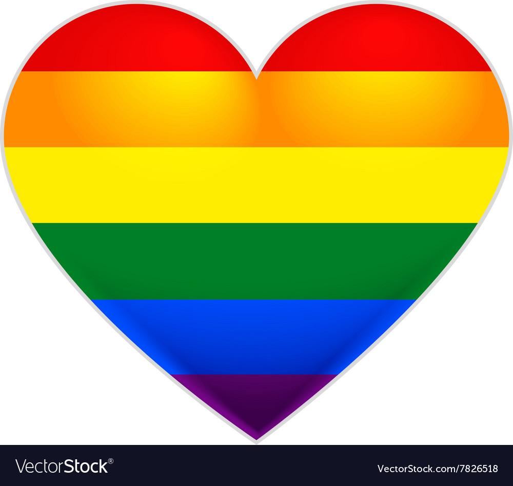 rainbow flag gay lgbt flag heart royalty free vector image