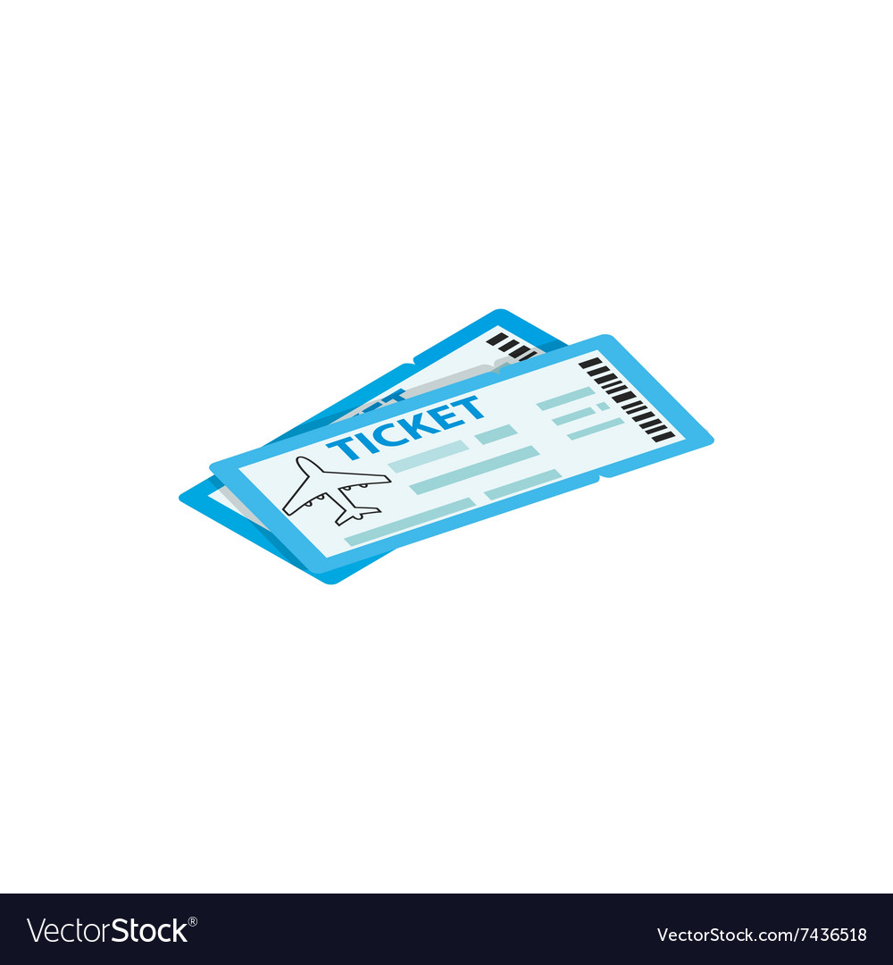 Two airline ticket 3d isometric icon