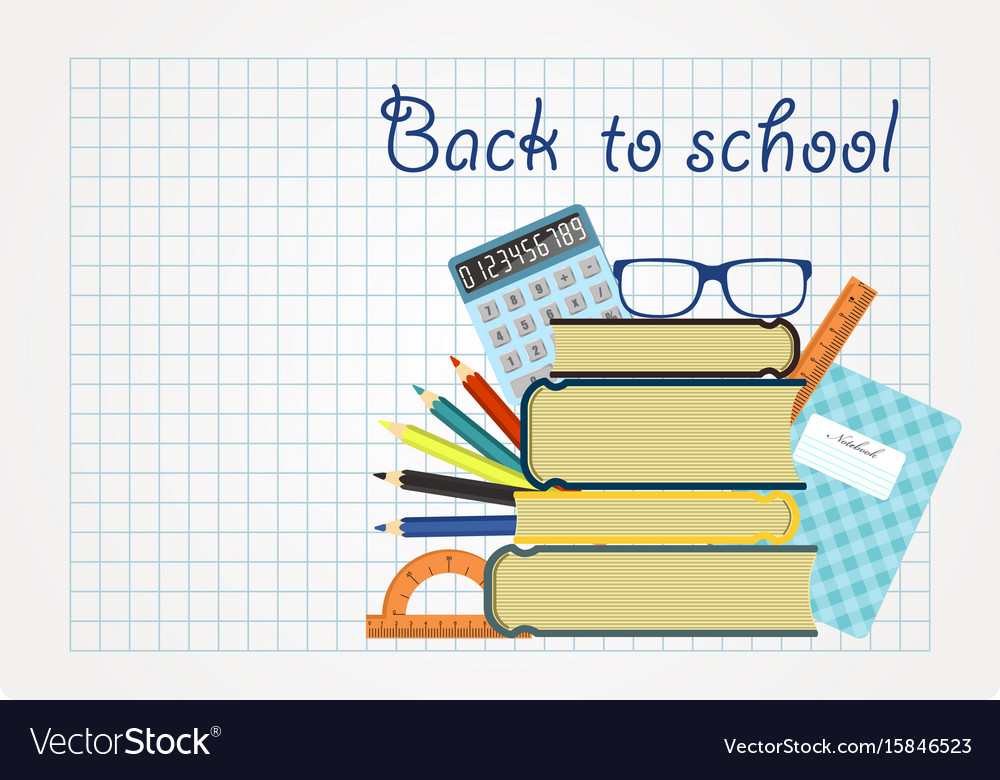Back to school background paper sheet with