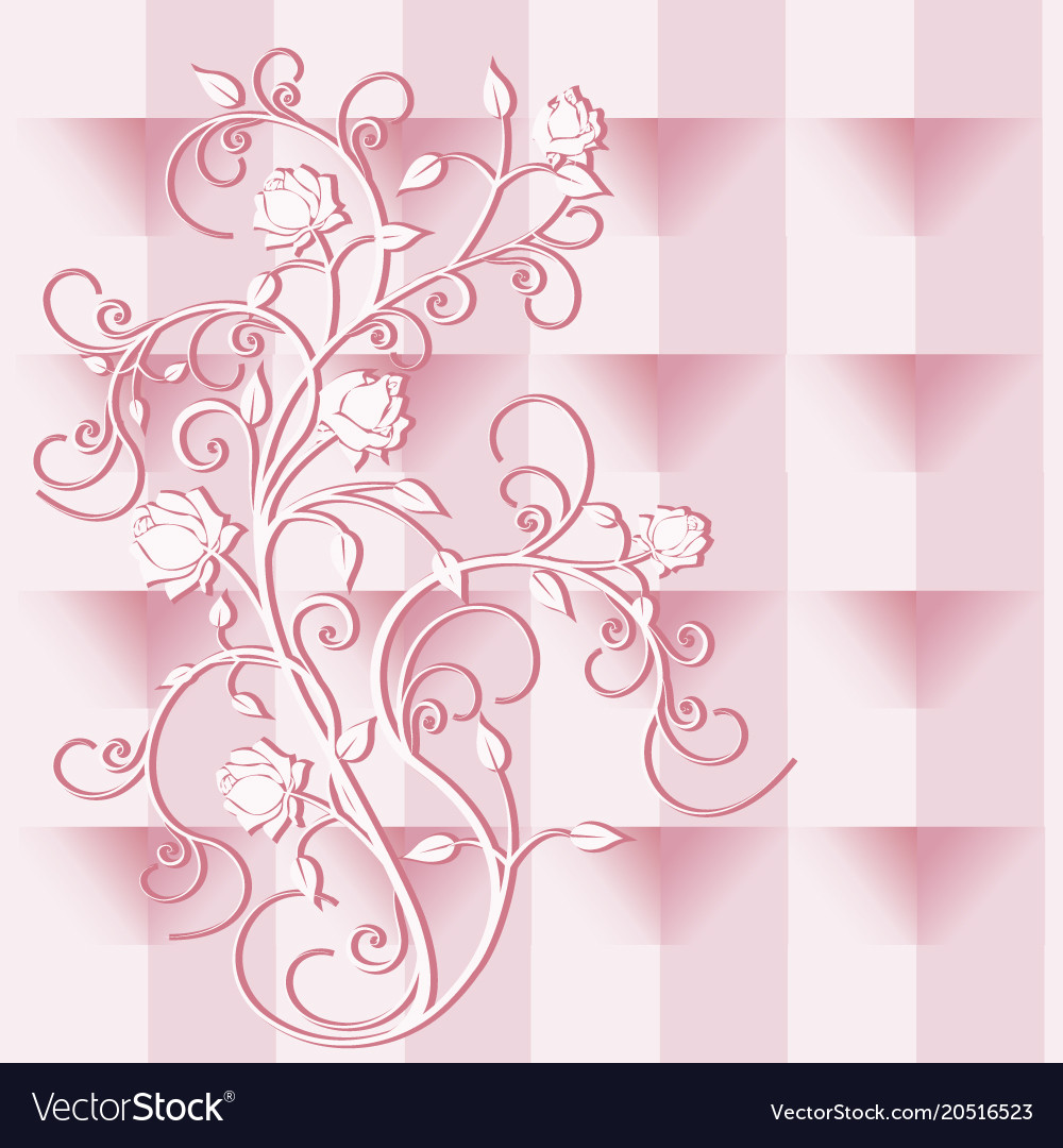 Background flourishes and roses version 1
