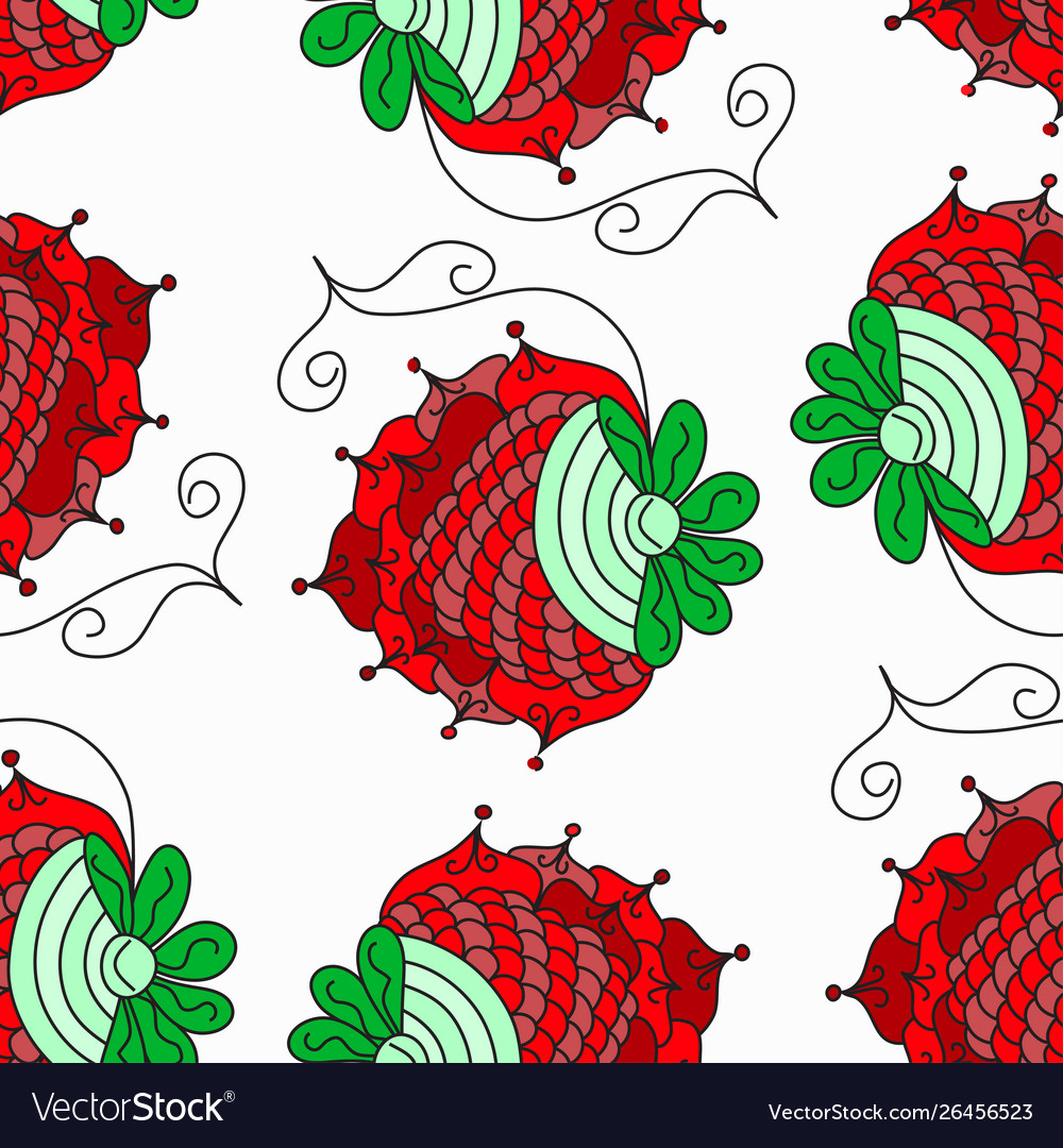 Berry abstract pattern background