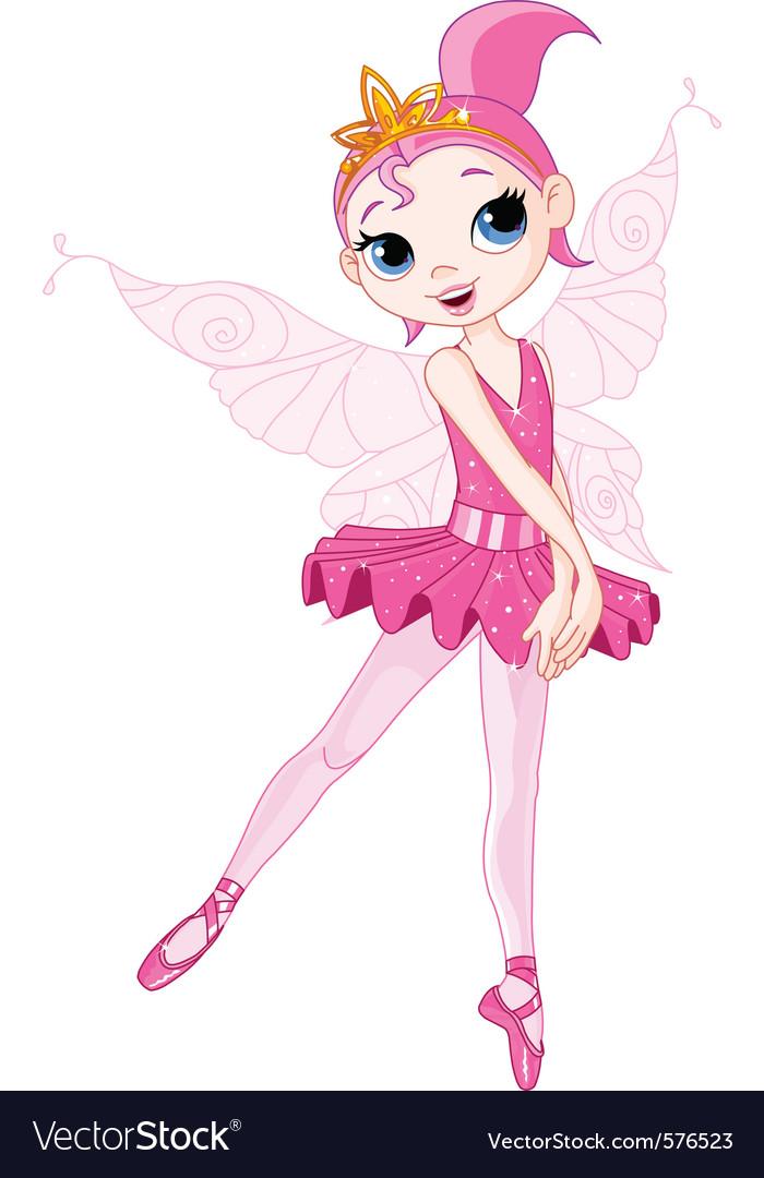 Cartoon ballerina vector image