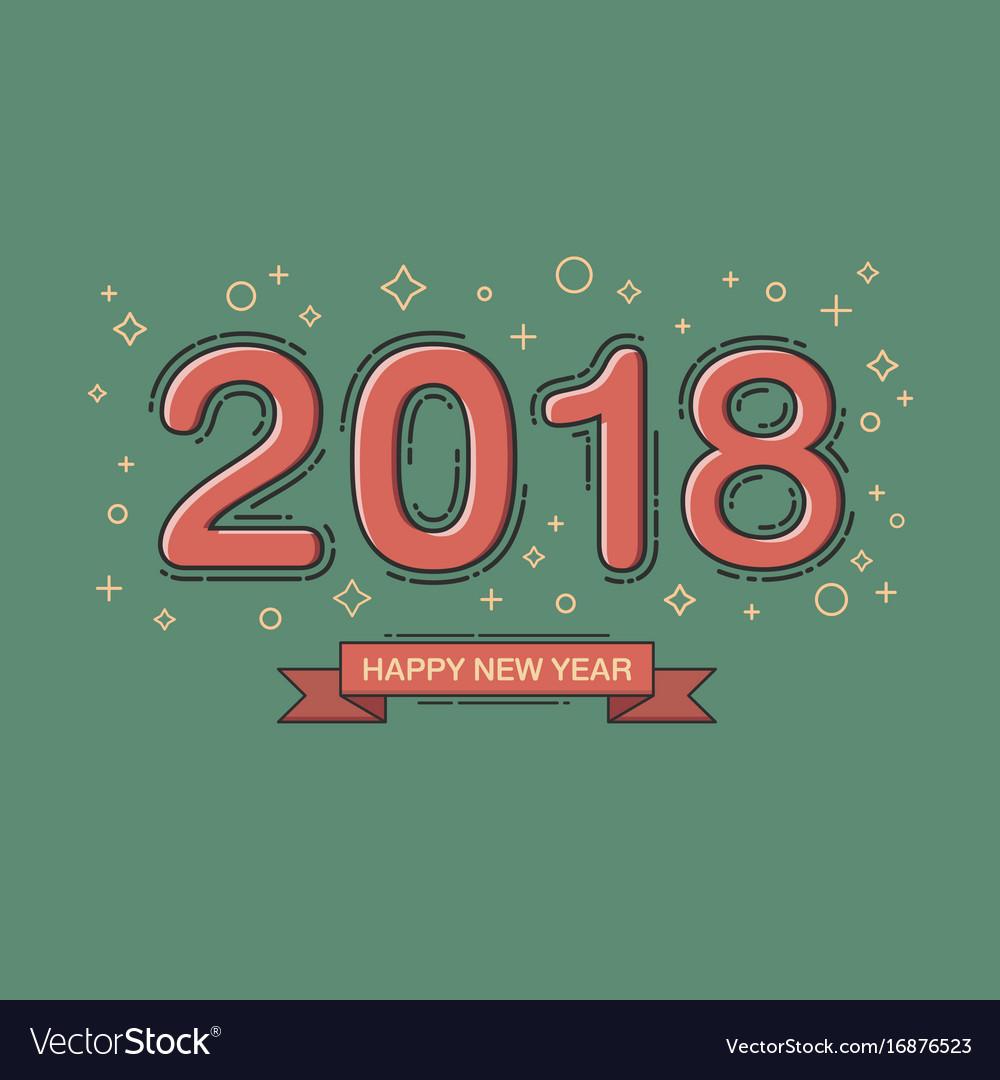 Happy New Year Flat Design 12