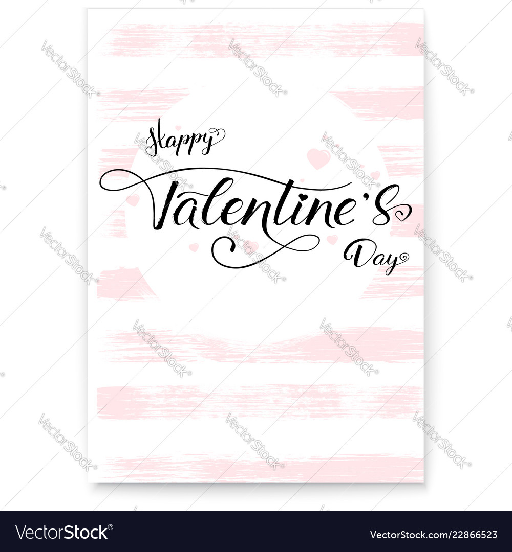 Happy valentines day cover greetings poster in
