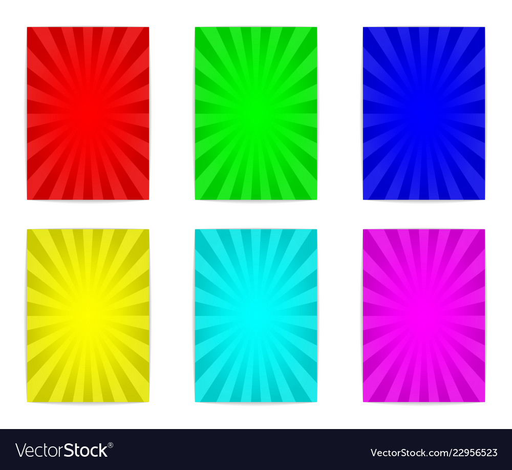 Six colorful poster