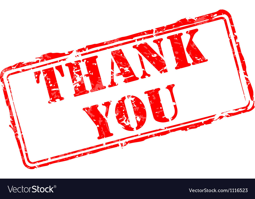 thank you rubber stamp royalty free vector image
