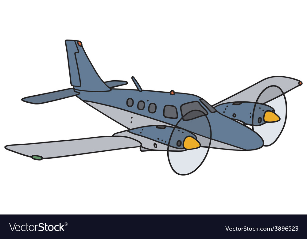 twin engine airplane royalty free vector image