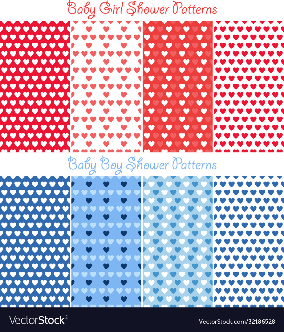 Bashower heart pattern collection