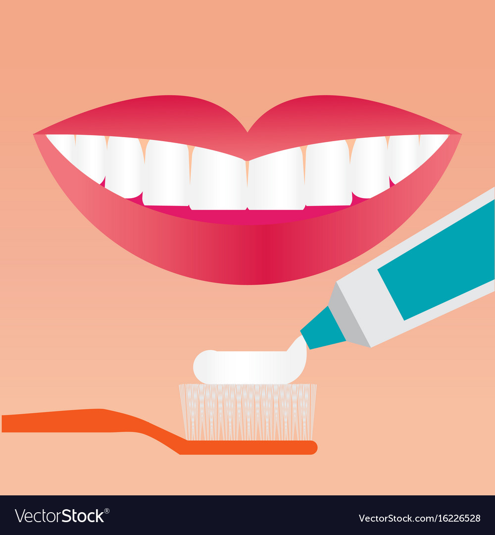 Beautiful smiling mouth with beautiful healthy vector image