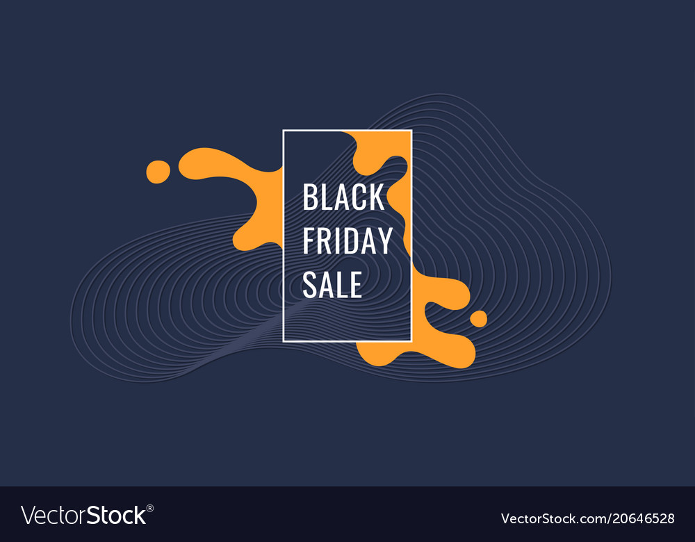 Black friday poster organic forms with dynamic
