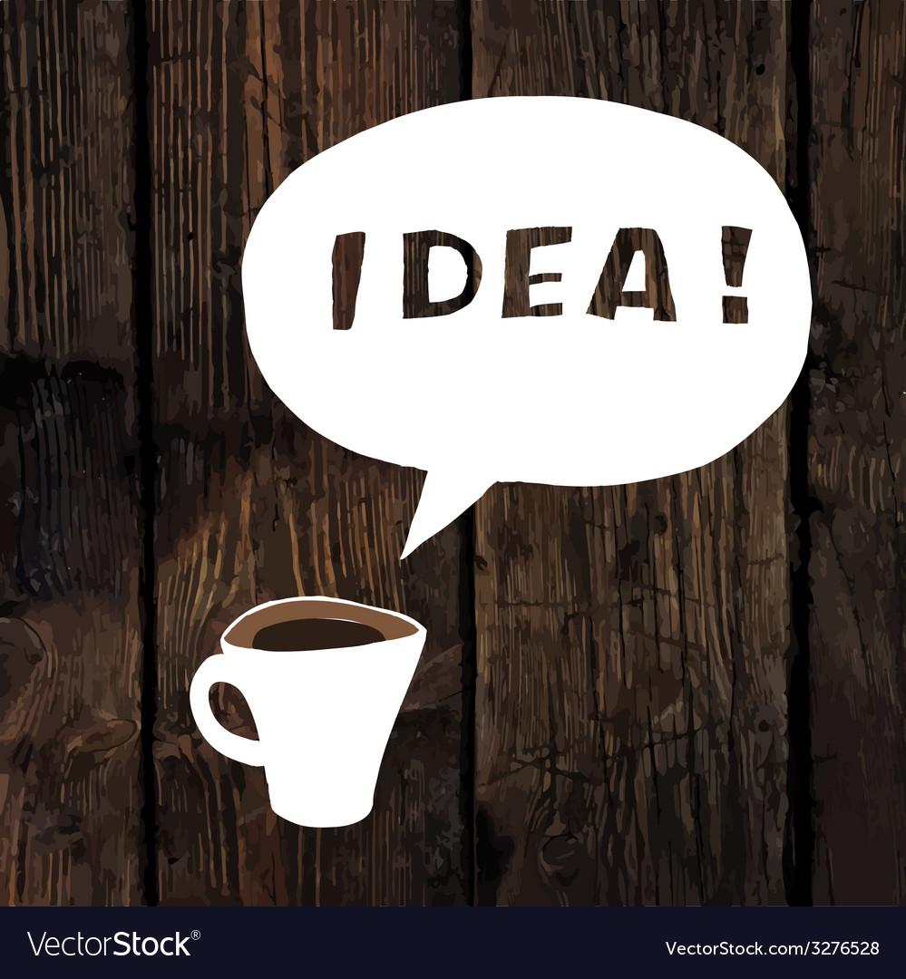 Coffee idea concept