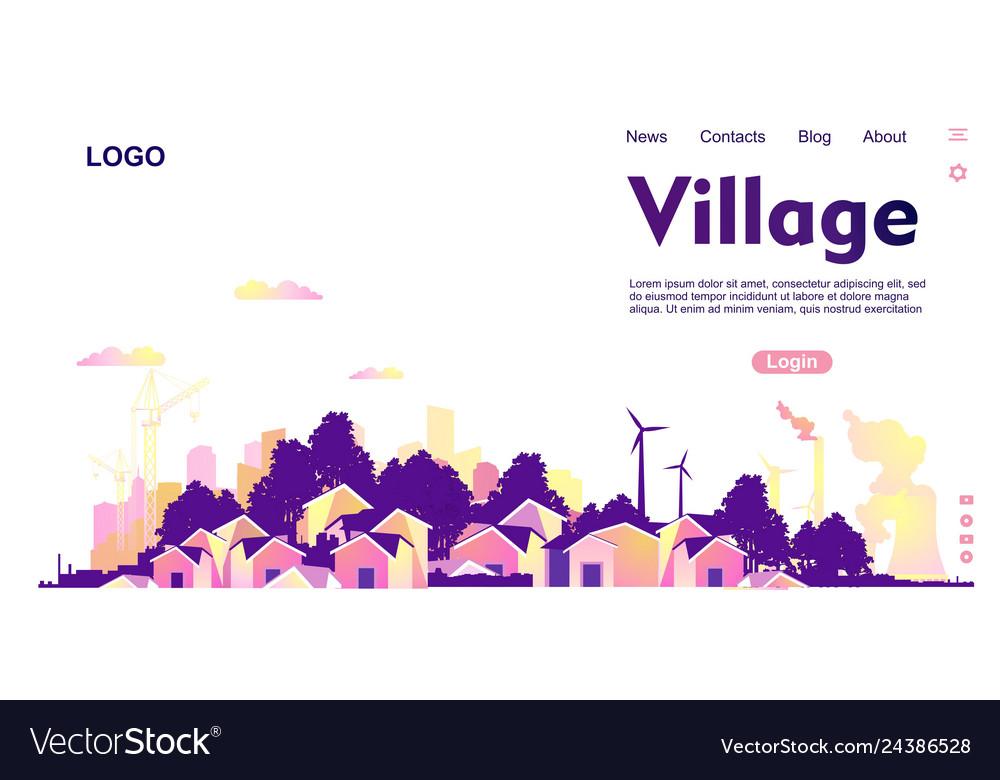 Countryside landscape banner