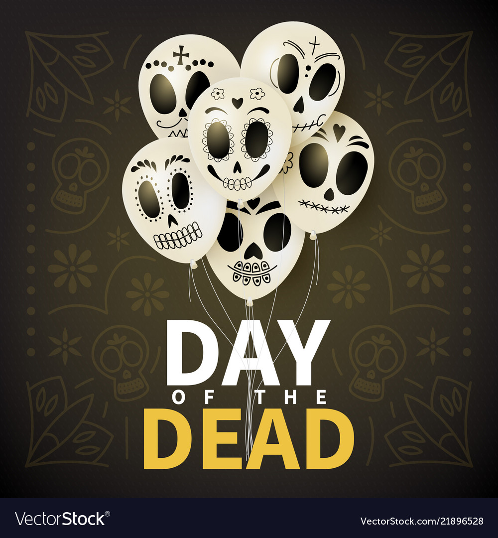 Festive card of day of the dead