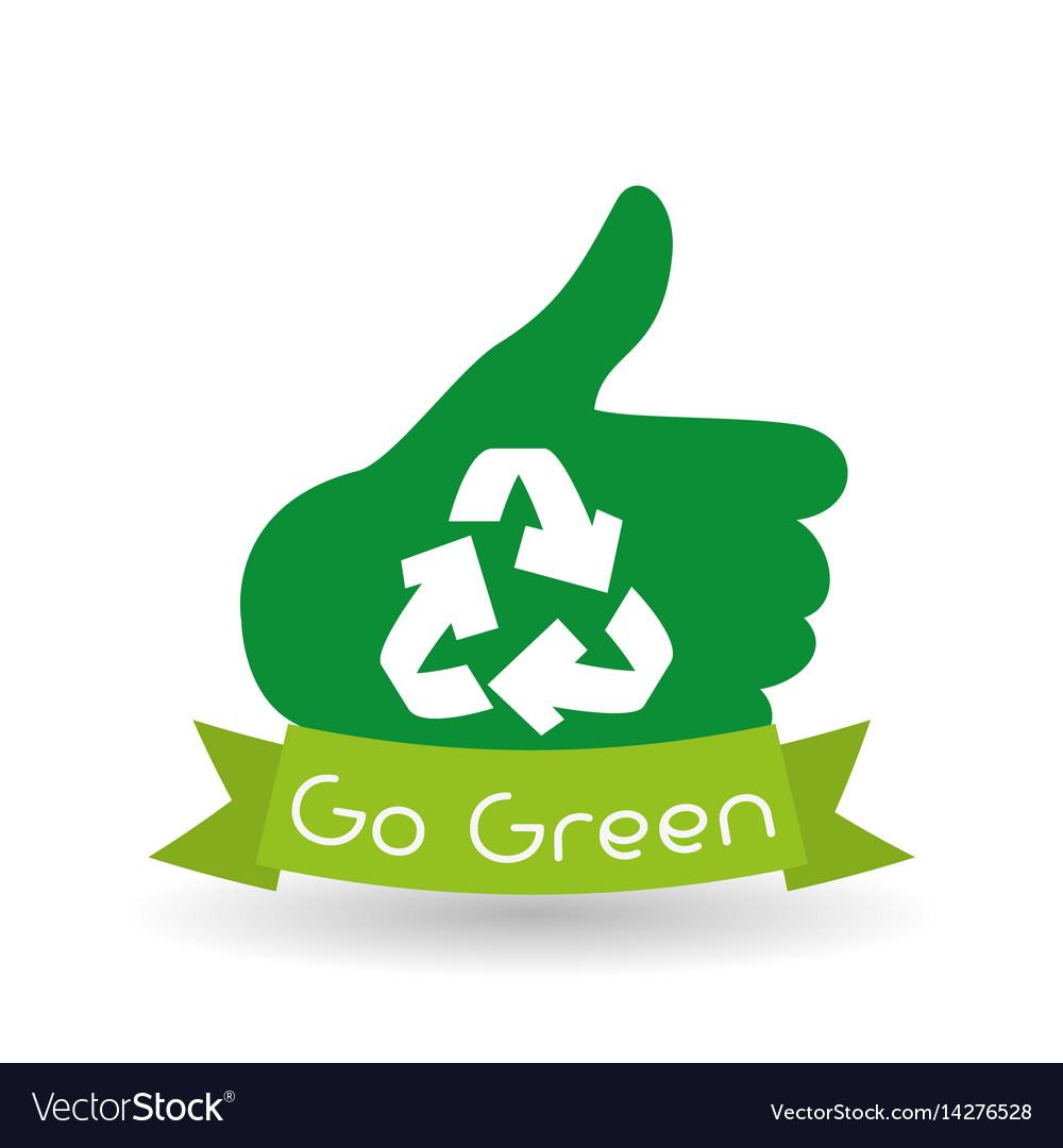 Ecoconcept go green design eco concept white background vector image