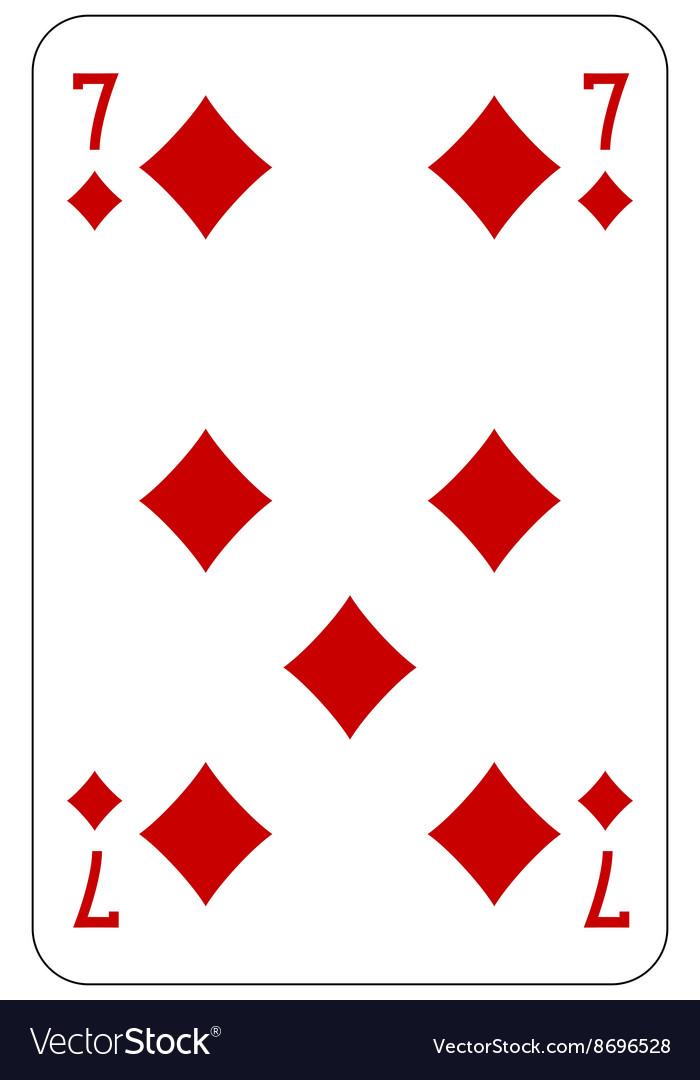Poker playing card 7 diamond