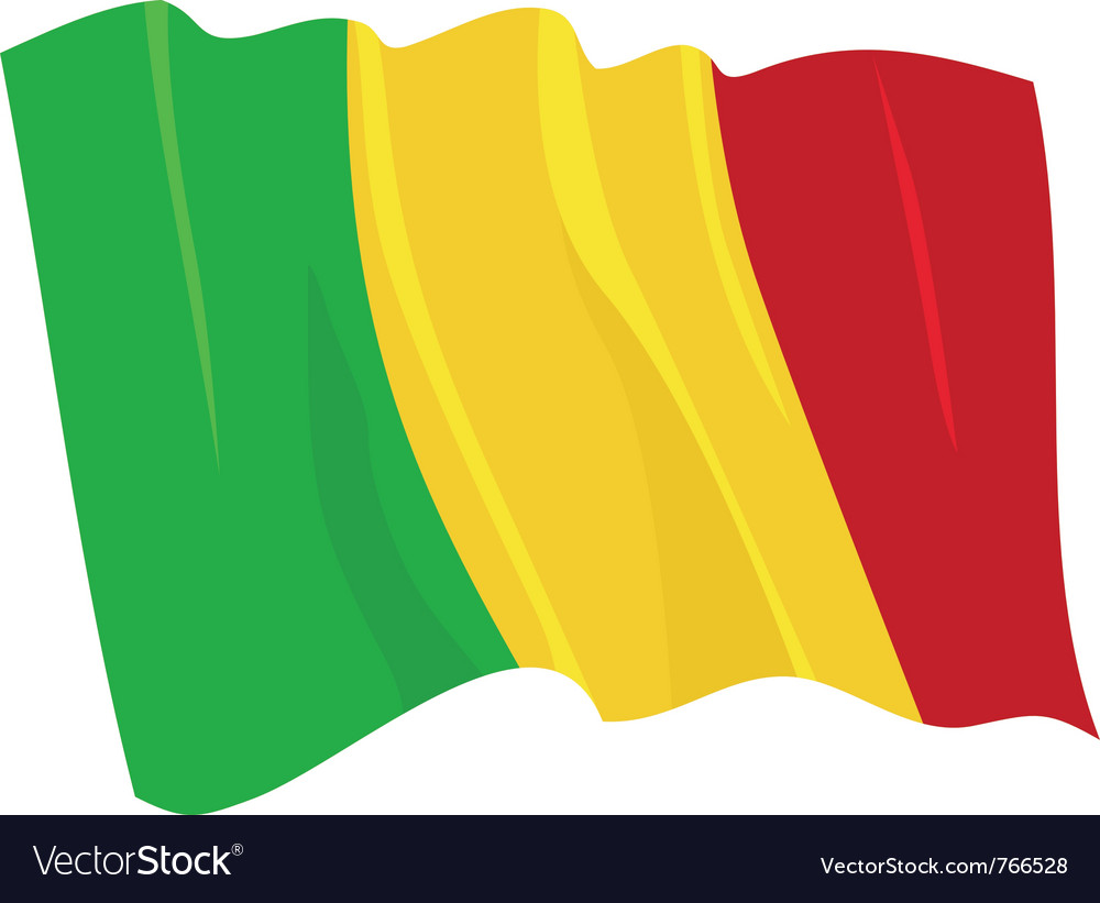 Political waving flag of mali vector image