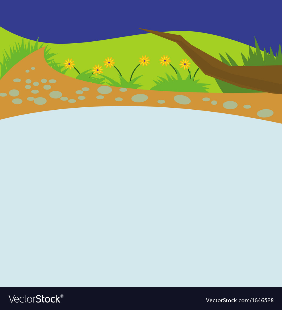 River cartoon vector image