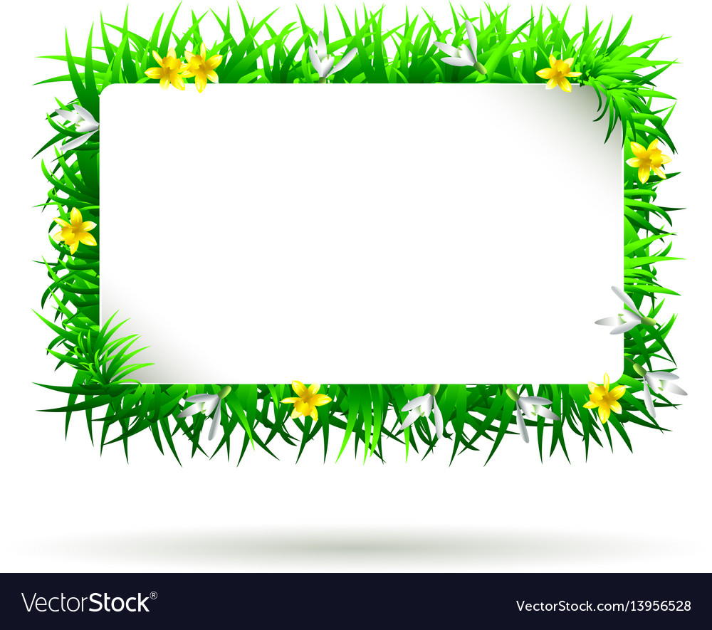 Spring frame Royalty Free Vector Image - VectorStock