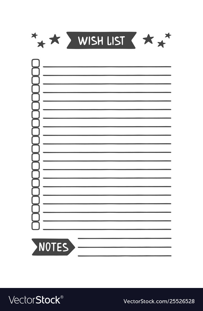 photograph regarding Printable Wish Lists known as Need listing printable organizer