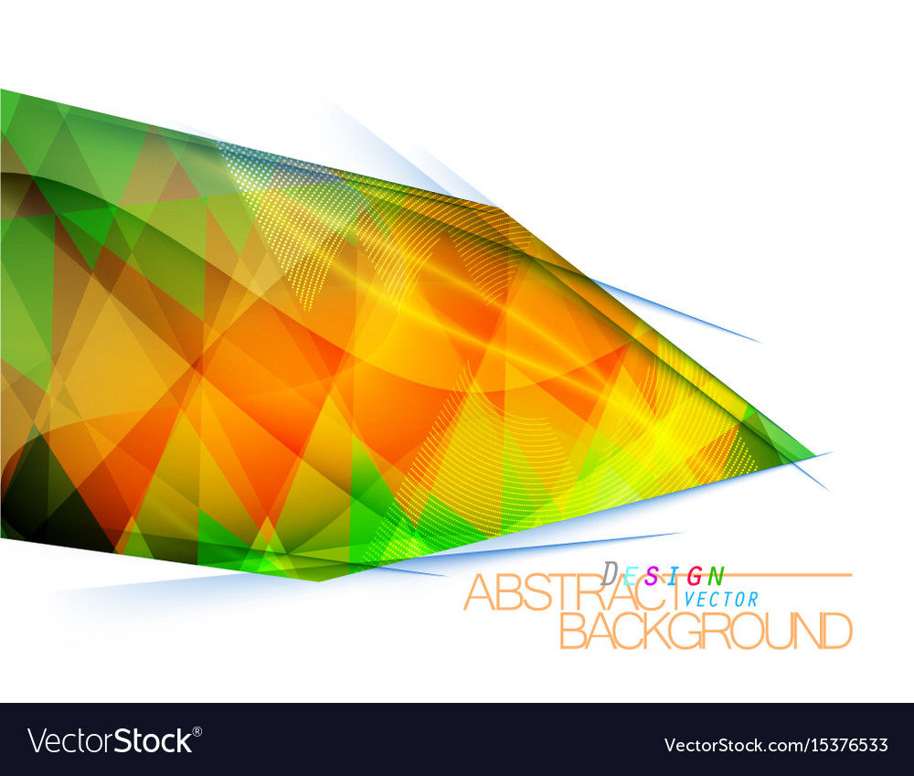 Abstract multicolored square shape