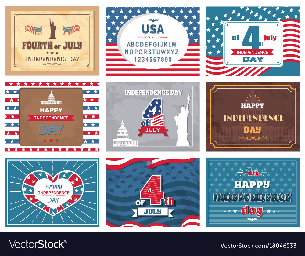 American national holiday 4th of july greetings vector image m4hsunfo