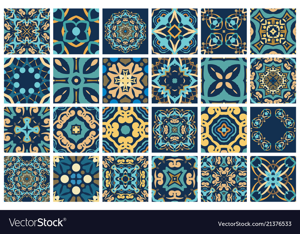 Decorative Tiles Royalty Free Vector Image