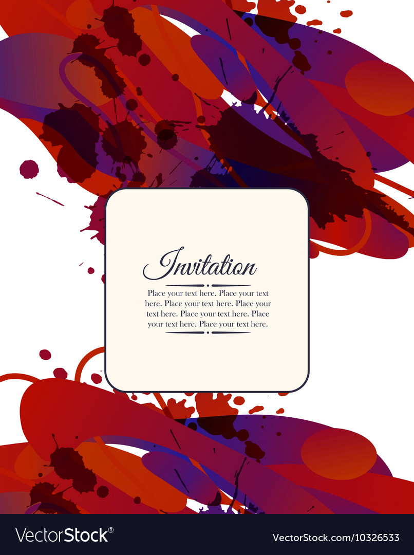 Colorful decorative invitation card with free