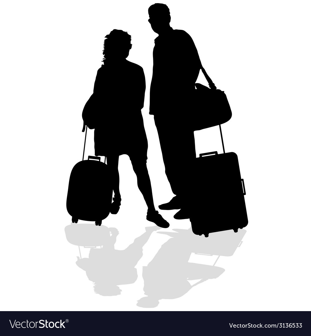 Couple with a suitcase