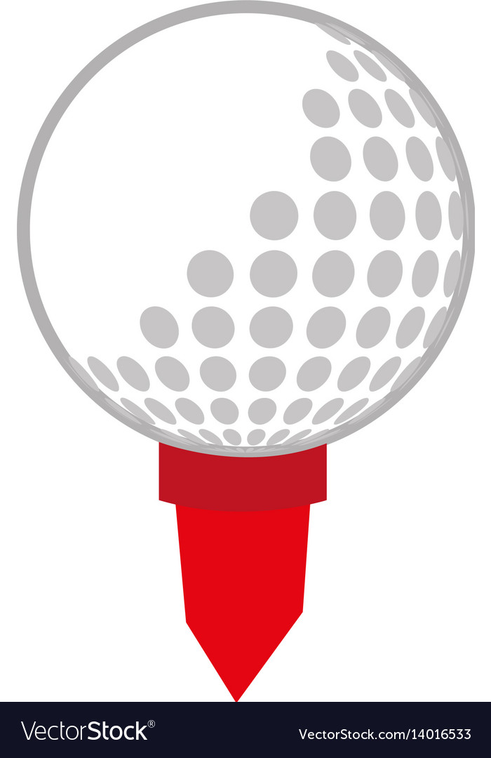 Golf sport ball isolated icon