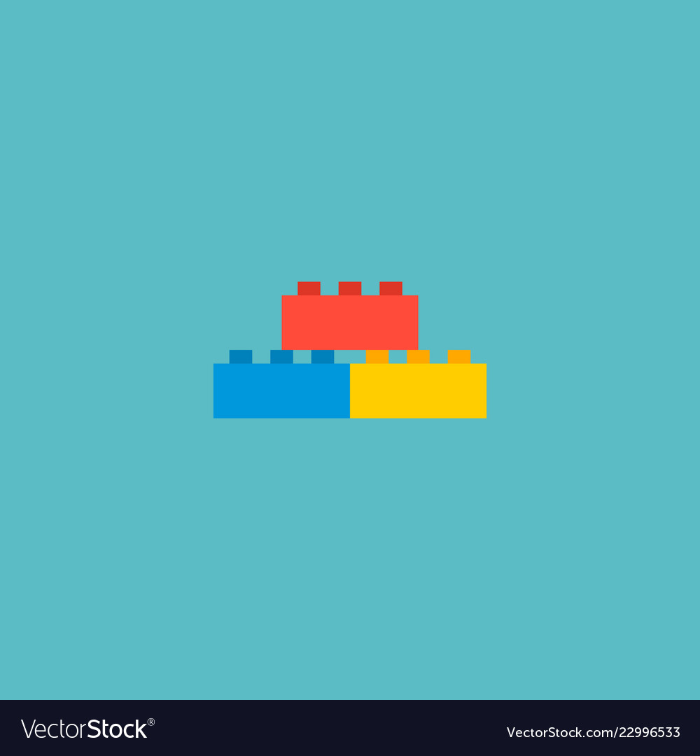 lego icon flat element of royalty free vector image  vectorstock