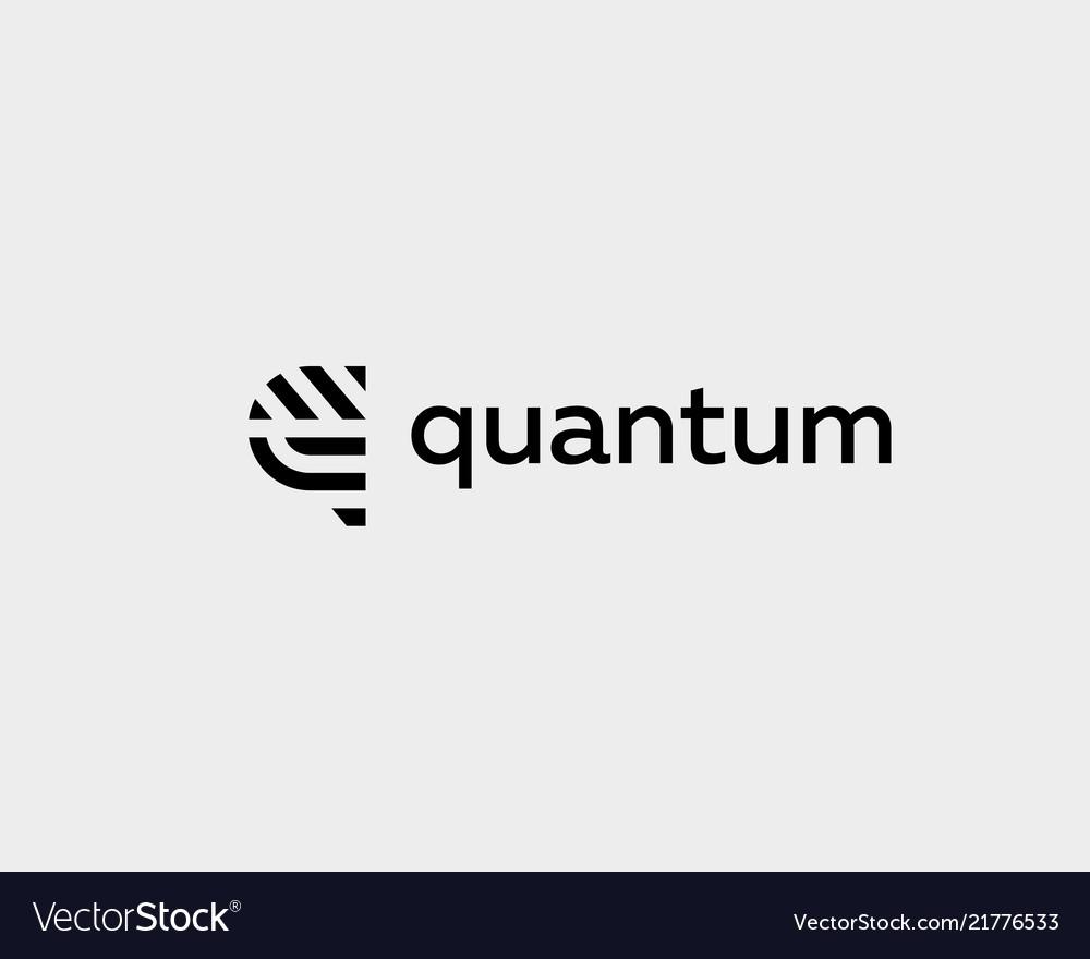 Letter q line logo design creative